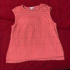 Tops - Peach sleeveless shirt